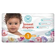 The Honest Company Honest Disposable Baby Diapers, Rose Blossom, Size 1, 44 ct