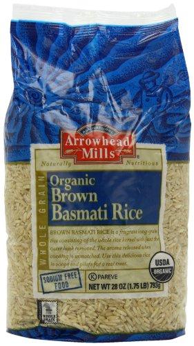 Arrowhead Mills Brown Basmati Rice, 28-Ounce Packages (Pack of 6)