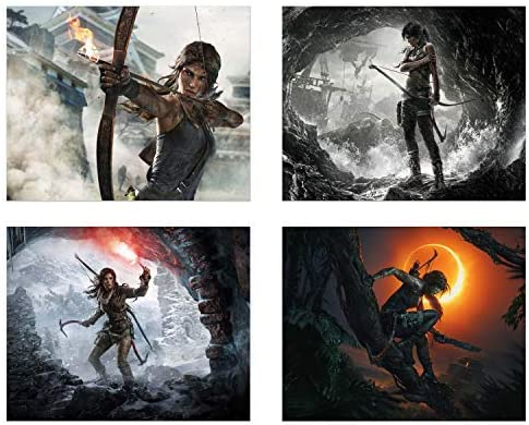 Amazon Com Shadow Of Tomb Raider Set Of Four 8x10 Rise Of