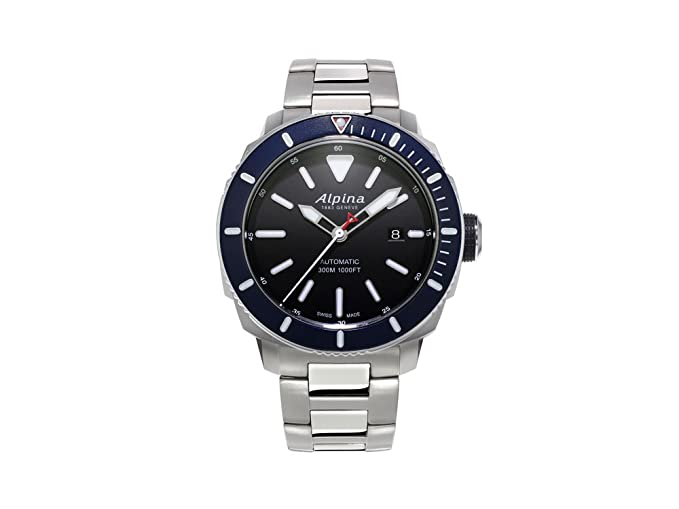 Alpina Seastrong Diver Automatic Watch Black Mm Atm Day - Alpina automatic watch