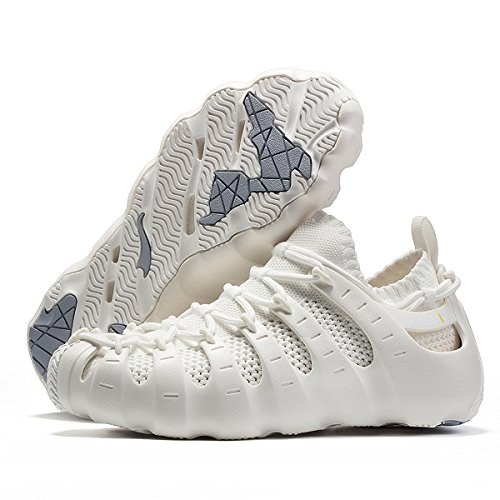 ONEMIX Men's Sneakers Lightweight Breathable Outdoor Walking Shoes Sock-Like Sneakers White 11US = Foot Length 11.22in = 45EUR