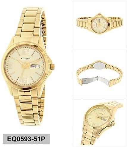 Citizen Ladies Gold-Tone Quartz Watch EQ0593-51P