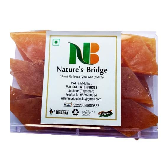 Nature's Bridge Aam Papad/ Mango Katli/ Dry Mango Slice/ Khatta-Meetha Aam Papad/ Sweet, Mangolicious Candy - (250 gm)