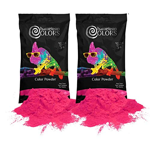 (Holi Powder Gender Reveal by Chameleon Colors - 2lbs Pink. Same Premium, Authentic Product Used for Color Races, 5k, etc.)