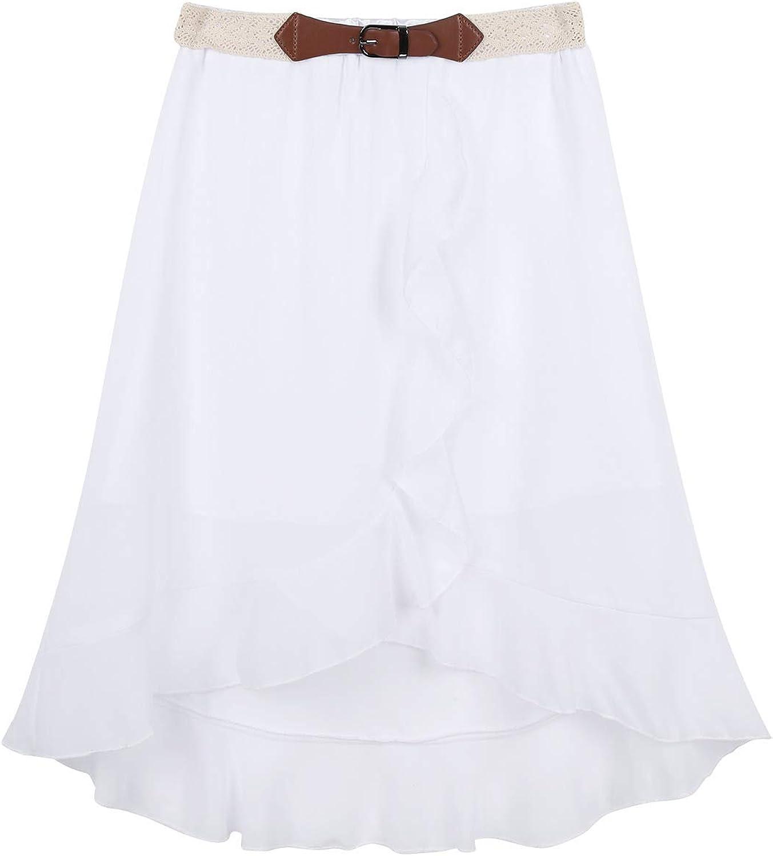 YiZYiF Falda Vintage de Gasa para Niñas Verano Falda Vuelo Cintura ...