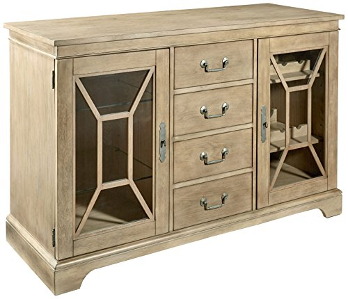 Furniture At Home 238 Food and Wine Harvest Collection Server, Natural Wash - Hand selected rubberwood solids and quality craftsmanship means sturdy construction for long-lasting wear White oak veneer wire brushed by hand to add texture and depth to the surface Equipped with a power station for easy to reach outlets and can even host a wine cooler of appropriate size - sideboards-buffets, kitchen-dining-room-furniture, kitchen-dining-room - 51ev4o3HIlL -