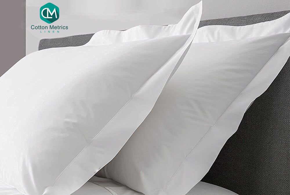 Cotton Metrics Linen Present Hotel Quality 100% Egyptian Cotton 600 Thread Count 2pc Pillow Case Queen (20'' x 30'') Size White Solid
