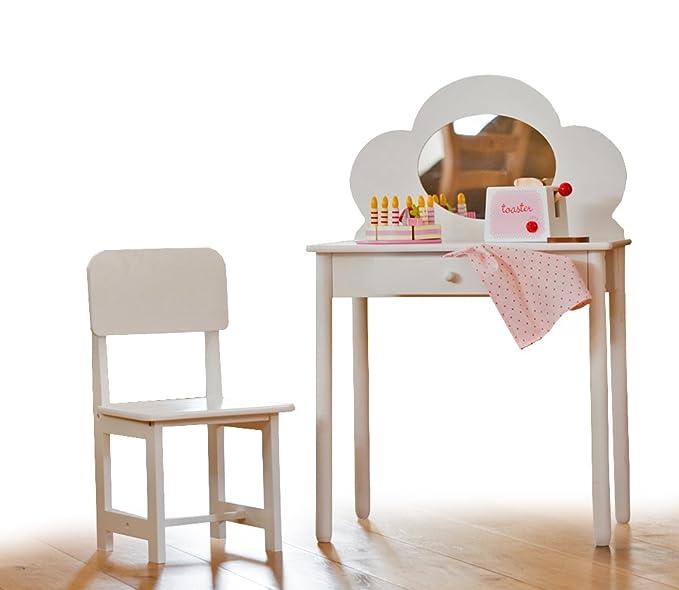 Coiffeuse classique avec chaise pour enfant - Blanc Sue Ryder