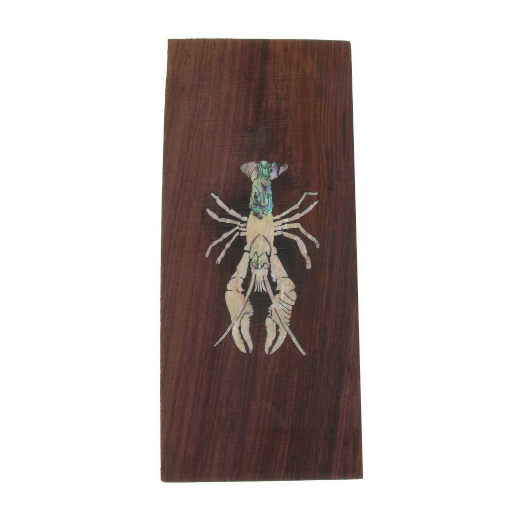 Baoblaze Guitar Head Veneer Shell Sheet Wood Headplate For Luthier Making as described Gecko