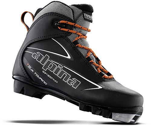 Alpina Sports Youth T5 Jr Touring Cross Country Ski Boots, Euro 35, Black/White/Red