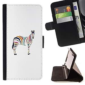 For Samsung Galaxy J1 J100 Case , Minimalista cebra Artístico- la tarjeta de Crédito Slots PU Funda de cuero Monedero caso cubierta de piel