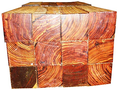 (1 Piece of Cocobolo Rosewood Turning Square 2