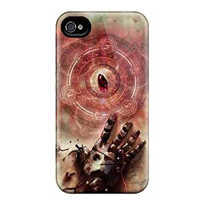 Anti-Scratch Cell-phone Hard Covers For Iphone 4/4s With Unique Design Stylish Full Metal Alchemist Series ColtonMorrill