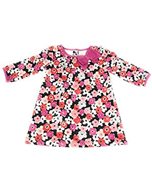 Toddler/GIrl Long Sleeve Floral Print Dress