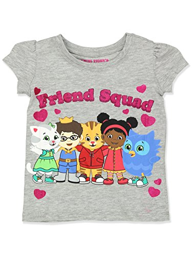 Price comparison product image Daniel Tiger Girls Short Sleeve Tee (2T, Grey)