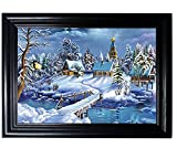 COTTAGE FRAMED Wall Art--Lenticular Technology Causes The Artwork To Flip-MULTIPLE PICTURES IN ONE-HOLOGRAM Type Images Change--MESMERIZING HOLOGRAPHIC Optical Illusions By THOSE FLIPPING PICTURES