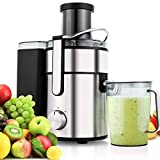Flagup 1000 Watt Whole Fruit Juicer with 80mm Wide Mouth, 2 Speed Low-Noise Centrifugal Power Juicer Juice Extractor with Juice Jug(1000ML) Review