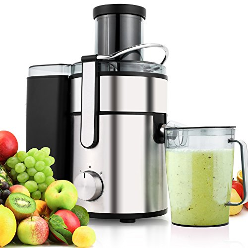 Cheap Flagup 1000 Watt Whole Fruit Juicer with 80mm Wide Mouth, 2 Speed Low-Noise Centrifugal Power Juicer Juice Extractor with Juice Jug(1000ML)