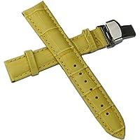 kolight® Amarillo Moda Durable 20mm de Piel auténtica
