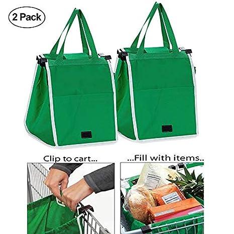 Amazon.com: Bolsa de la compra, 2 paquetes, bolsa plegable ...