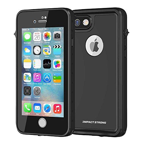 ImpactStrong iPhone 7/8 Waterproof Case [FingerPrint ID Compatible] Slim Full Body Protection for Apple iPhone 7 and iPhone 8 (4.7 inch) - Black