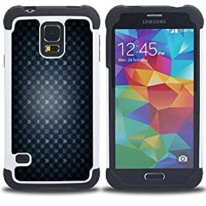 Dragon Case- Dise?¡Ào de doble capa pata de cabra Tuff Impacto Armor h??brido de goma suave de silicona cubierta d FOR Samsung Galaxy S5 I9600 G9009 G9008V- HEART SYMBOL WALLPAPER CROWN MOUSE GAME