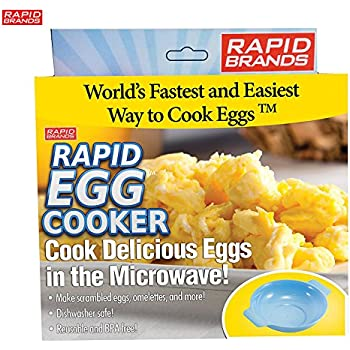 Rapid Egg Cooker - Microwave Delicious Eggs in Less than 2 Minutes - BPA Free and Dishwasher Safe
