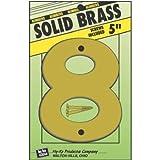 HY-KO PROD Solid BRS Number 8, 5'' (BR-50/8)