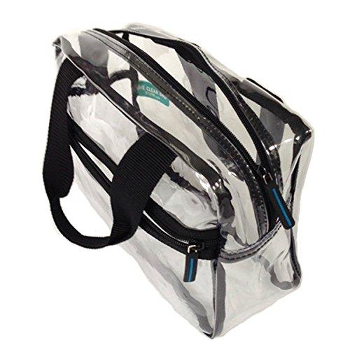 Clear Handbag Top Zipper Handle