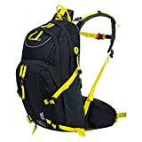 Lixada 25L Bike Shoulder Backpack,Ultralight Water Resistant Cycling Bag,Outdoor Breathable Sports Rucksack Riding Daypack Travel Hydration Water Bag with Rain Cover