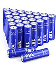 EBL Alkaline Batterien AA Batterien 28 Stück LR6 Alkaline Batterien Super Alkaline Longlife Technologie(z.B. für Maus, Taschenlampe, Fernbedienung uzw.)