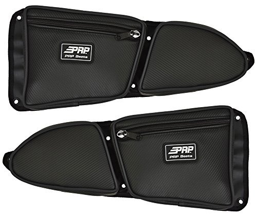 Pair of Side Door Bags For Stock 2 Seat Polaris RZR XP 1000 Doors With Black Piping - One Driver Side Bag, One Passenger Side by PRP Seats