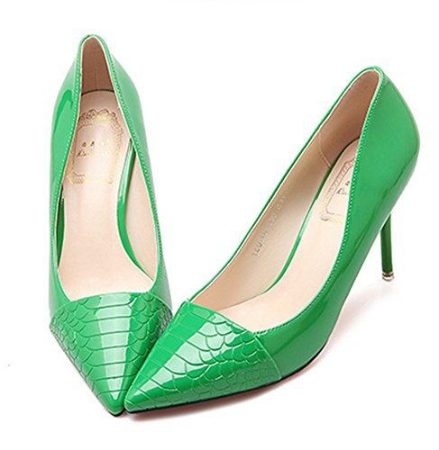 Heels High Shoes Stiletto Sexy Green Aisun on Trendy Women's Pumps Slip Court 0xXq4Fw