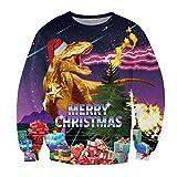 KSJK Unisex Funny Print Ugly Christmas Sweater Jumper 031 XXL