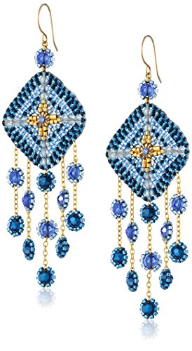 - Miguel Ases Gold-Filled Multicolored Beaded Drop Earrings