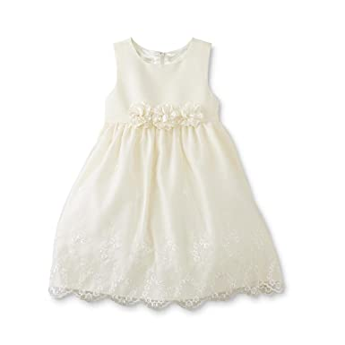 055f6e5682 Amazon.com: American Princess Candlelight 24 Month Ivory Cream Floral Lace  Special Occasion Dress: Clothing
