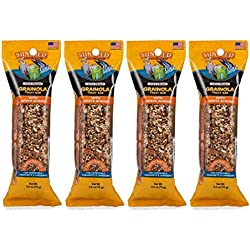 Sunseed 4 Pack of Vita Prima Grainola Treat Bar with Papaya Almond