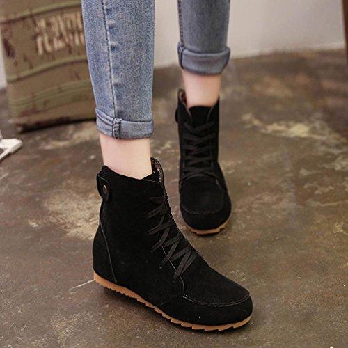 Plano de Tobillo Zapatos Nieve Shoes Hembra Botas Ante Chelsea Elástico Con Koly Running Negro Zapatillas Ecuestre Cuero Mujer Boot Botines cordones Mujer Motocicleta para wXaIaqR