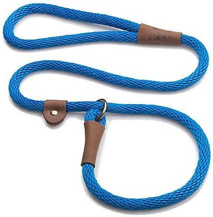 Mendota Slip Dog Lead 4ft x 3//8in Blue