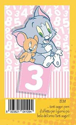 Tarjeta Felicitación cumpleaños 3 años Rosa Niña Jerry ...