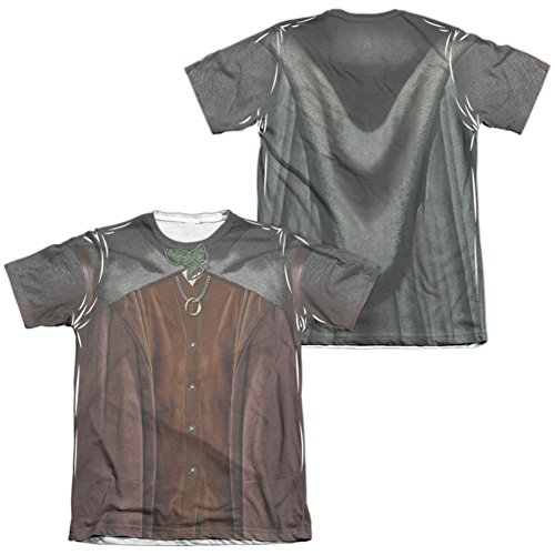 [Lord Of The Rings- Frodo Costume Tee (Front/Back) T-Shirt Size XXXL] (Frodo Costume Mens)