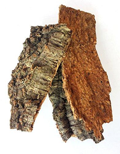 Natural Cork Bark Flats - 3lb Bulk Bag