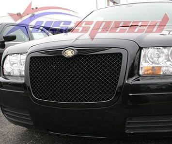 amazon com chrysler 300 300c black mesh style grille with emblem automotive chrysler 300 300c black mesh style grille with emblem