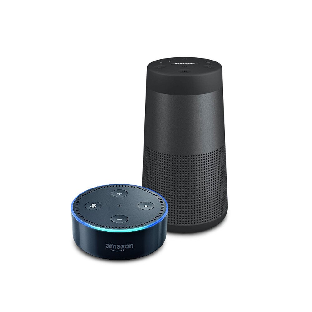 bundle echo dot black plus bose soundlink revolve. Black Bedroom Furniture Sets. Home Design Ideas