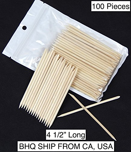 100pcs Facial Eyebrow Wooden Wood Waxing Hair Removal Sticks Applicator