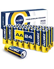 Allmax AA Maximum Power Alkaline Batteries (24 Count) – Ultra Long-Lasting Double A Battery, 10-Year Shelf Life, Leak-Proof, Device Compatible – Powered by EnergyCircle Technology (1.5 Volt)