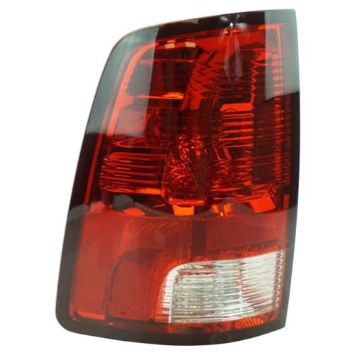 DAT AUTO PARTS Left Driver Side Taillamp Replacement for 09-13 RAM 1500 Pickup Or 10-13 2500 and 3500 Taillight Red Brake Clear Backup Lens with Standard Bulbs (not LED Bulbs) CH2818124