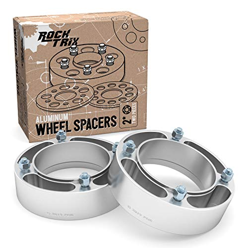 RockTrix - 2 inch ATV Wheel Spacers (4x156, 3/8x24 Studs, Cone Seat Nuts) Compatible with various Polaris and Kawasaki (See Description for Year Model Info) UTV Silver V4 50mm 2pcs (Polaris Sportsman Spacers)