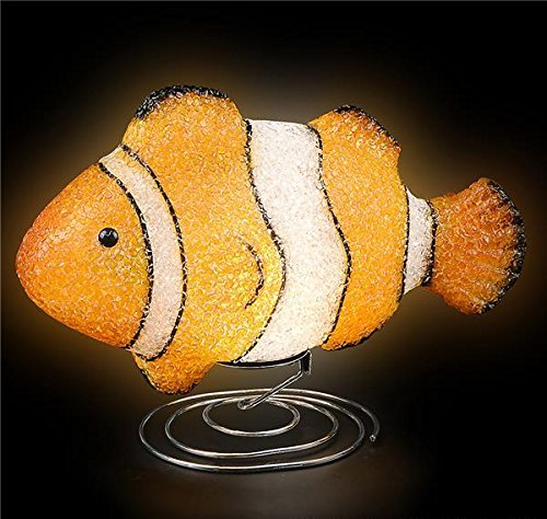 DollarItemDirect 10'' SPARKLE CLOWN FISH LAMP, Case of 6