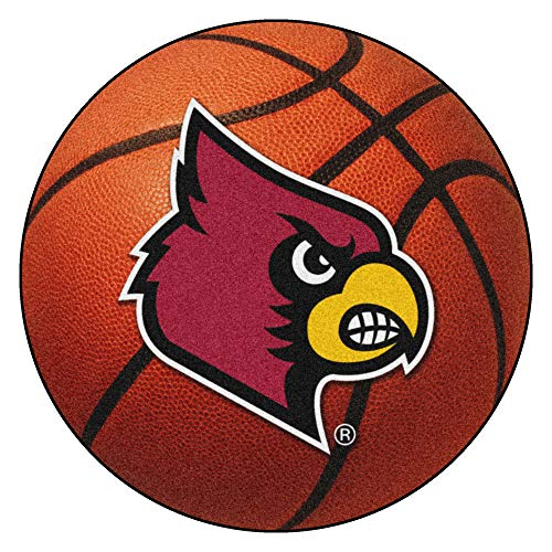 - FANMATS NCAA University of Louisville Cardinals Nylon Face Basketball Rug 29